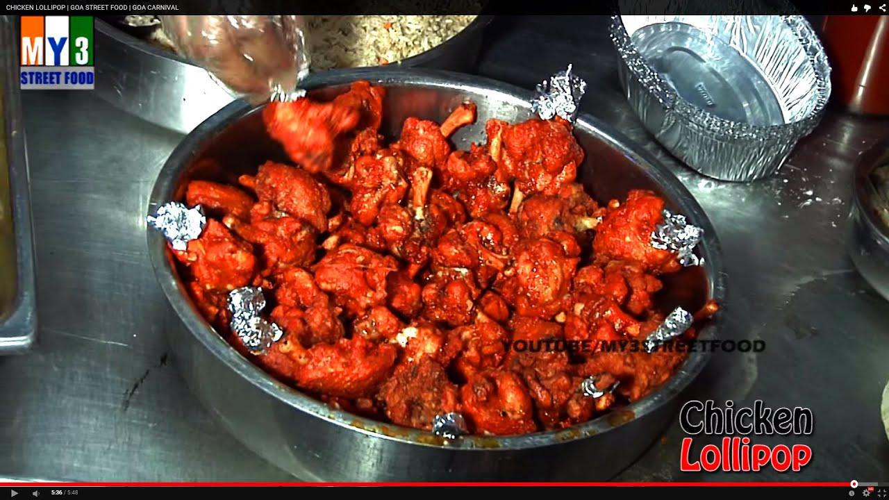 Chicken lollipop goa street food goa carnival street food youtube forumfinder Image collections