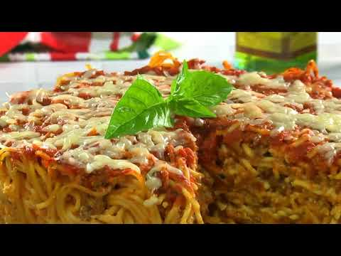 Jennie James - Baked Spaghetti Cake