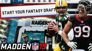 Madden 19 Fantasy Draft! Madden 19 Connected Franchise Draft