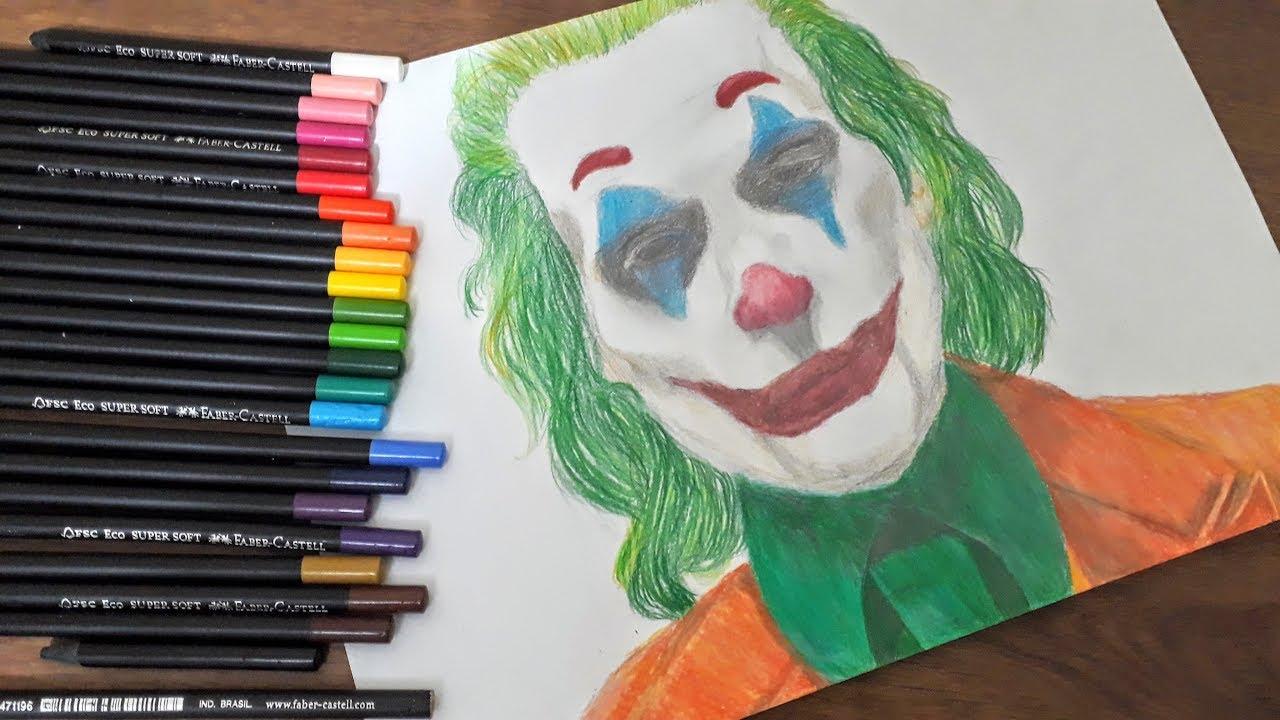 Desenhando O Coringa Joaquin Phoenix Speed Drawing Moshe