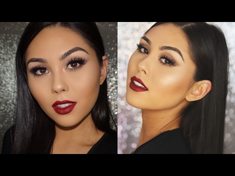 QUICK VALENTINE'S DAY MAKEUP TUTORIAL | Classic Matte Eyes + Sexy Red Lip