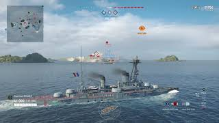 Meet The Courbet! Tier 3 French Battleship! (World of Warships Legends Xbox One X)