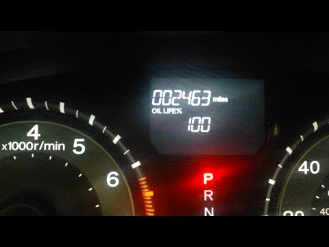 How To Reset Oil Life Light On 2016 Honda Odyssey Youtube