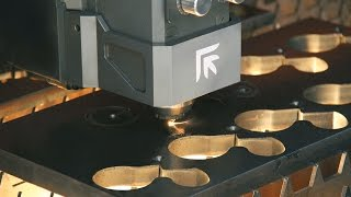 Prima Power Platino Fiber with 4kw Laser Cutting Demonstration