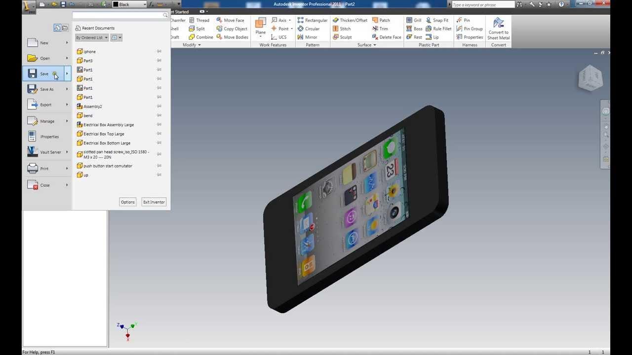autodesk inventor 2011 tutorial pdf