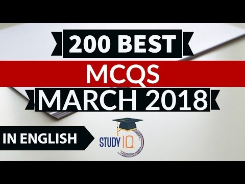 200 Best current affairs March 2018 in English - IBPS PO/SSC CGL/UPSC/PCS/KVS/IAS/RBI Grade B 2018