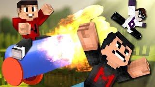 Drunk Minecraft #66 | TNT CANNON WARS