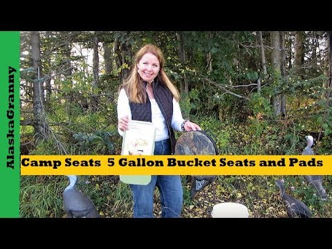 Camp Seats From 5 Gallon Bucket Seats Or Pads
