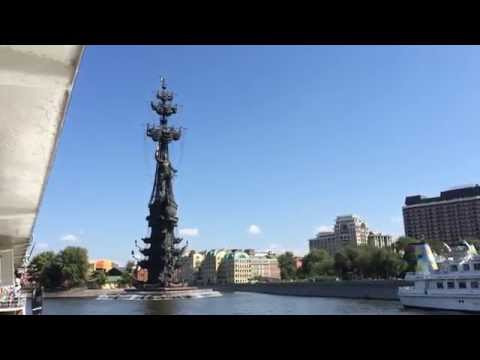 Moscow river boat tour on August 9, 2014 Russia