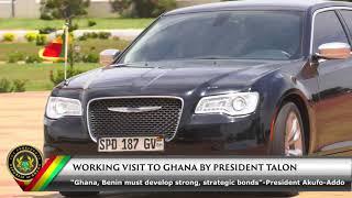 Working Visit to Ghana by President Talon of Benin