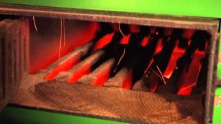 Biomassa gestookte CV installatie op houtpellets