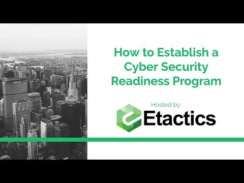 Webinar - How to Establish a Cyber Security Readiness Progra