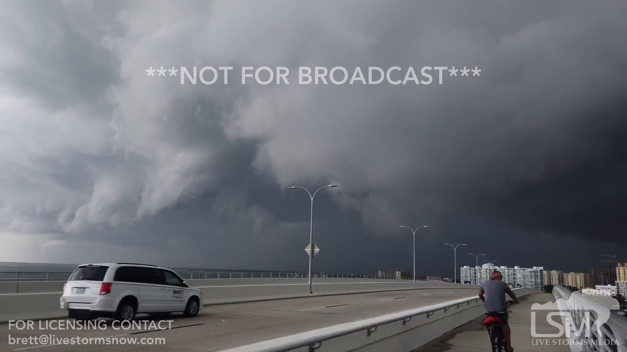 6-28-19 Sarasota, FL - Spooky Storm Clouds Impacting City