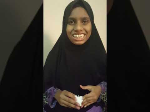 Beautiful NAAT by a blind girl DUAA