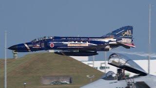 第301飛行隊 F-4 ファントム記念塗装機 機動飛行 築城基地航空祭2013