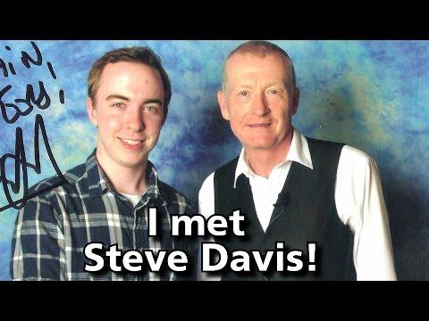 Meeting Steve Davis- 6 Times World Snooker Champion