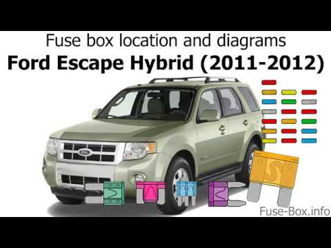 2011 ford escape fuse box fuse box location and diagrams ford escape hybrid  2011 2012  ford escape hybrid