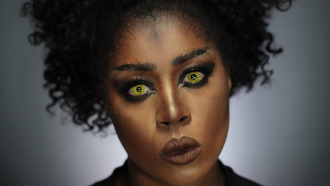 Warewolf Halloween Makeup for Dark Skin