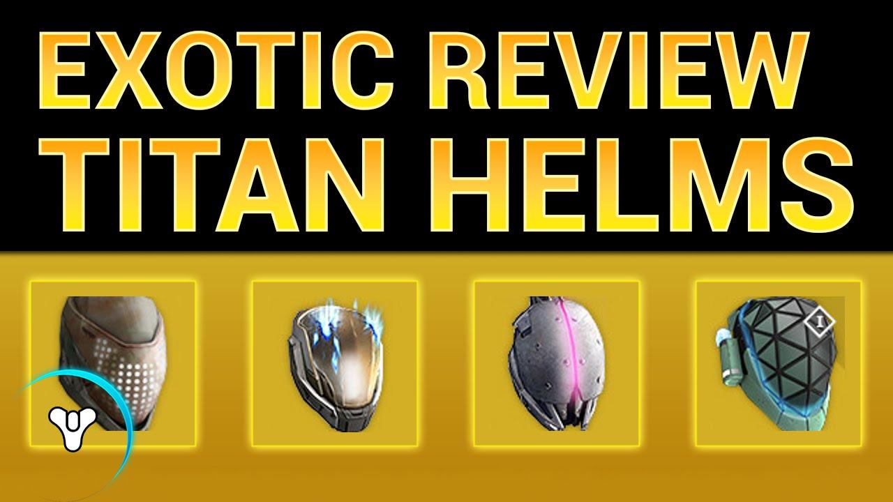 Planet destiny exotic armor analysis titan helmets youtube
