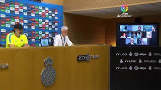 Rueda de prensa RCD Espanyol de Barcelona vs CD Leganés