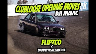 DJI MAVIC PRO CHASING DRIFT CARS AT CLUBLOOSE OPENING MOVES !!!
