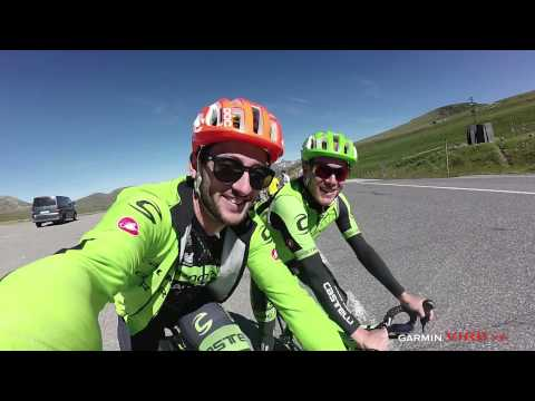 Nathan Haas and Andrew Talansky at Andorra team training camp