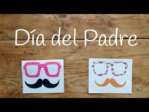 Original tarjeta para el día del padre ¡con grandes gafas y bigote!