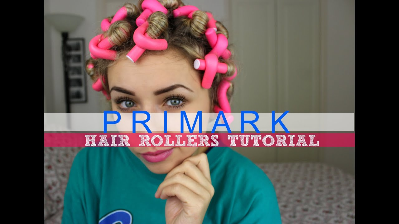 Primark Hair Rollers Tutorial Overnight Heatless Curls
