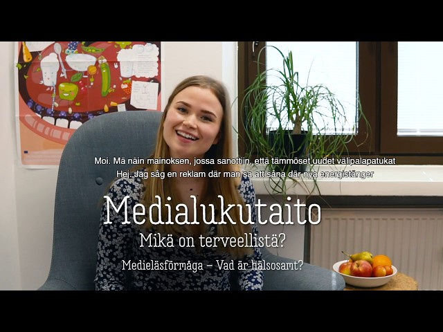 Thumbnail of video called Medialukutaito: mikä on terveellistä?