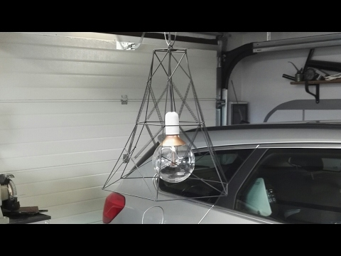 Diy Lamp from metal scrap