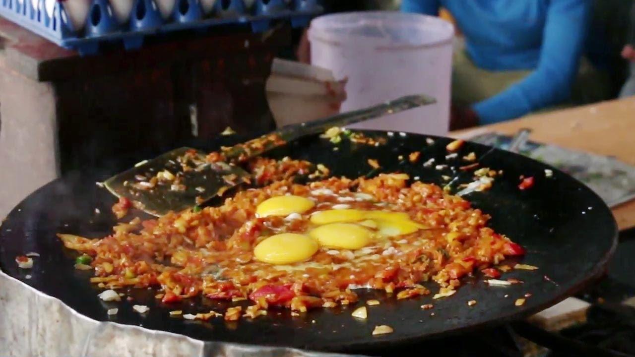 Indian Street Food Street Food In Mumbai Mumbai Egg Bhurji Youtube