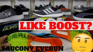 WORTH BUYING? SAUCONY EVERUN COMPARISON TO ADIDAS BOOST