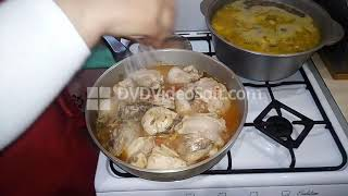 Крестьянский ужин из трёх блюд  ! Русская кухня !
