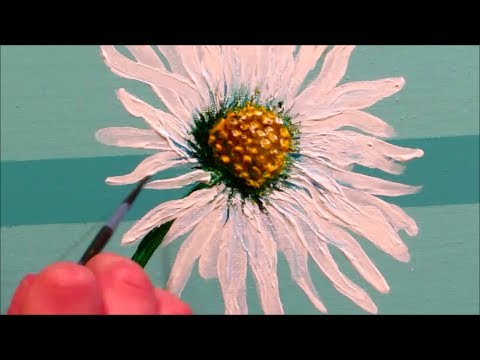 How To Paint Gerbera Daisies With Acrylics