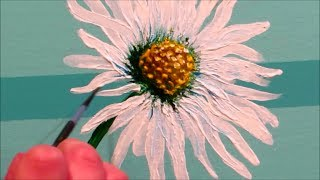How to paint a daisy - STEP by STEP