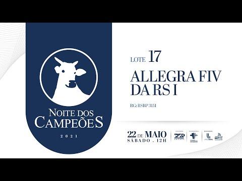 Lote 17   ALLEGRA FIV DA RS I   RSBP 3151 Copy 1