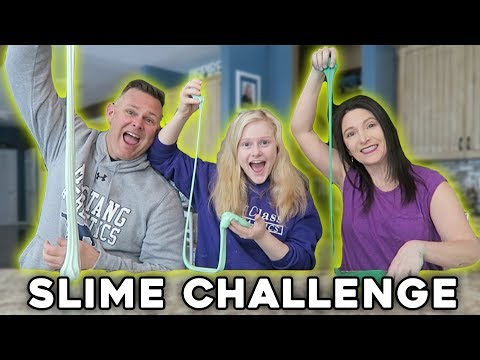 Mom vs Dad Slime Challenge Pt.2