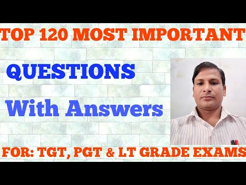 Lt Grade| TGT| PGT Most Important Questions with Answers| English Literature Notes