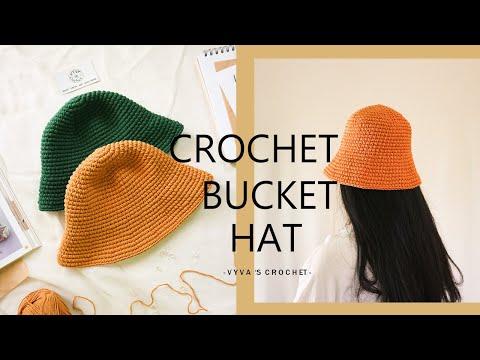 Crochet Bucket Hat| Hướng dẫn móc mũ bucket kiểu cơ bản| Vyvascrochet | Foci
