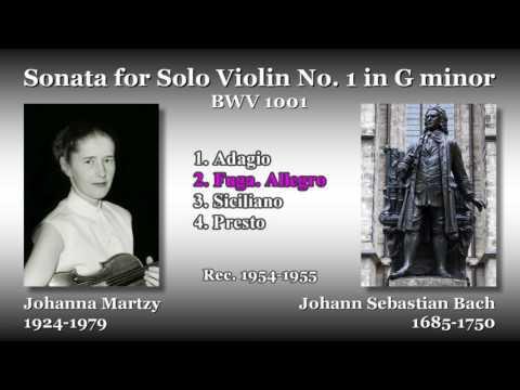 Bach: Sonata for Solo Violin No. 1, Martzy (1954) バッハ 無伴奏ヴァイオリンのためのソナタ第1番 マルツィ