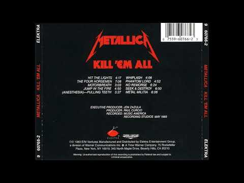 Metallica - Kill 'Em All Remasterd 2016 (full Album) HD