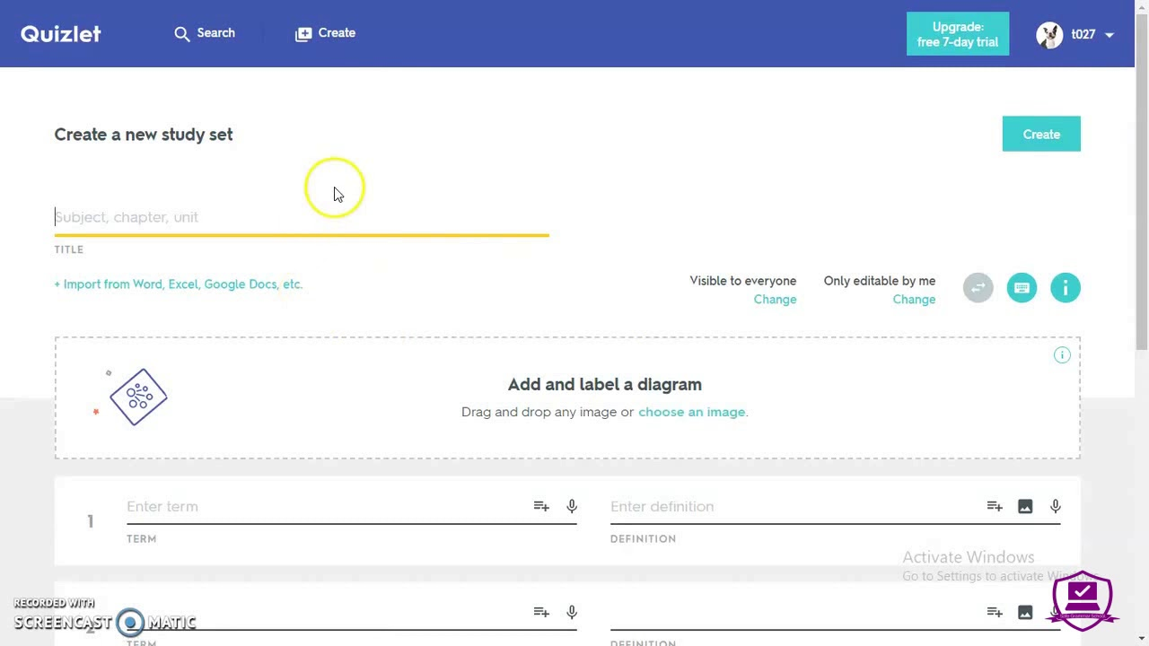 Creating Q/As with Quizlet for the Spaced Repetition