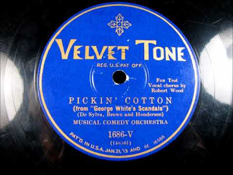 PICKIN' COTTON by the Bar Harbor Society Orchestra as the Musical Comedy Orchestra 1928