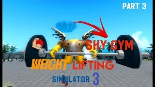 SKY GYM?!! (REBIRTH) | Roblox Weight Lifting Simulator 3