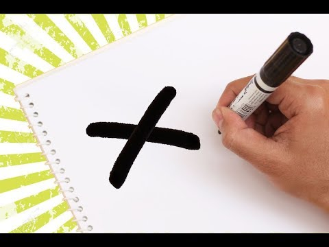 How to turn Letter X into a Cartoon LOVE LETTER