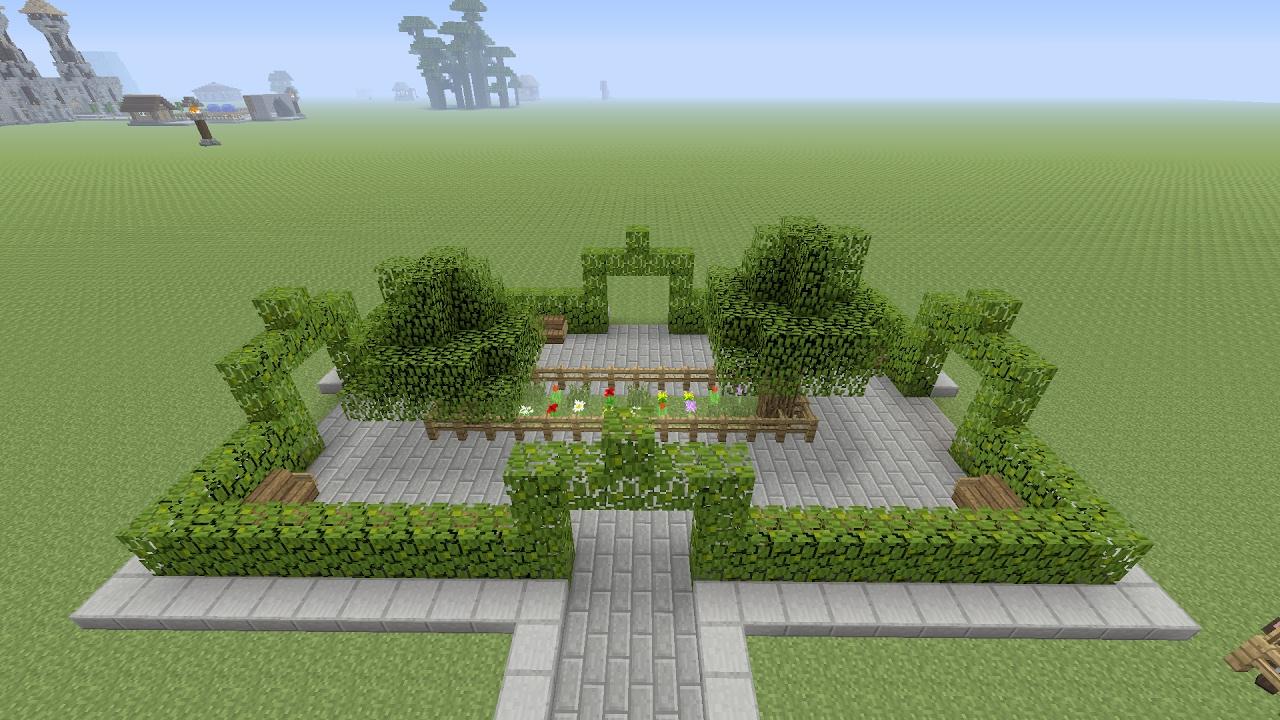 Minecraft een dorp bouwen deel 3 de tuin maken youtube - Outs zwembad in de tuin ...