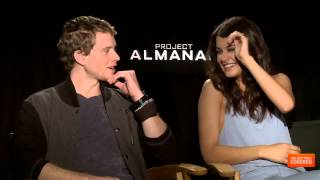 Project Almanac Interview With Jonny Weston, Virginia Gardner, Sofia D'Elia-Black and More [HD]