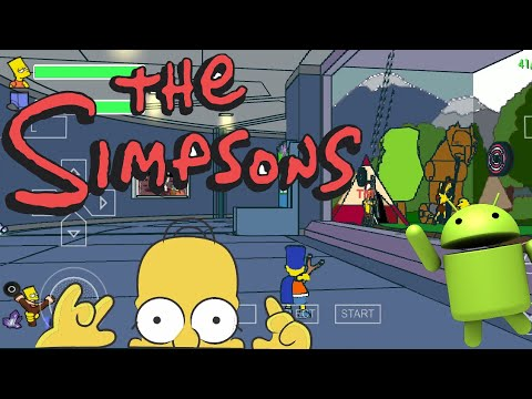 The Simpsons Game на русском языке, Gameplay PSP, Android,mi8, Snadragon 845, PPSSPP