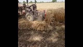 ट्रैक्टर से फसल काटने वाली मशीन tractor se fasal kaatne wali machine Crop harvesting with tractor