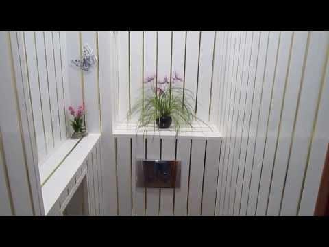 Видео Ремонт ванной панелями фото
